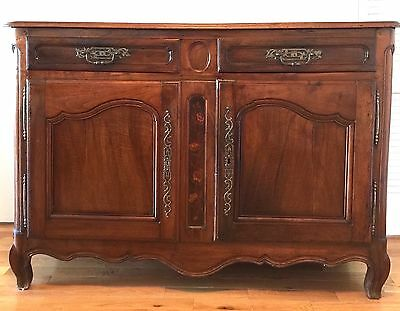 Antique French Country Walnut Buffet Sideboard - Louis XVI Style - 1700's
