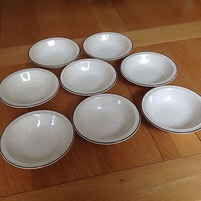 Eight Poole Parkstone Design Small Dessert/ Cereal Bowls VGC