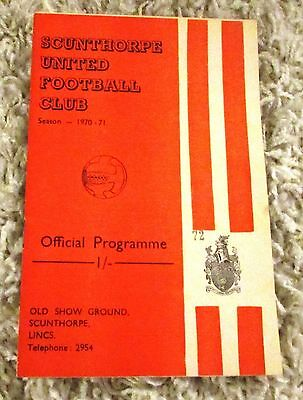 Scunthorpe United v A.F.C. Bournemouth. January 9th 1971