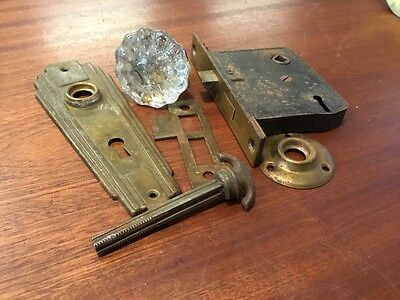 VTG Door Lock Set With Crystal/Glass Knob # 5