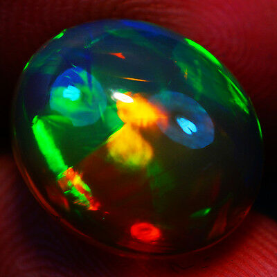 6.18 Ct Broadflash Pattern Exquisite Flashy Multi Color Welo Cabochon Opal-Re121