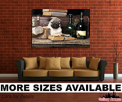 Wall Art Canvas Picture Print - Cute Dog, Pug 3.2
