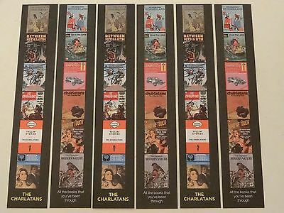 The Charlatans All The Books That You've Been Through 6 X Bookmark Set