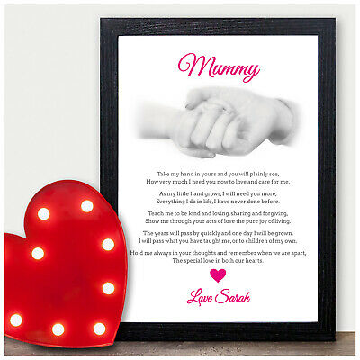 Birthday Gifts for Nanny Nan Nana Mum Mummy Personalised Poem Christmas Keepsake
