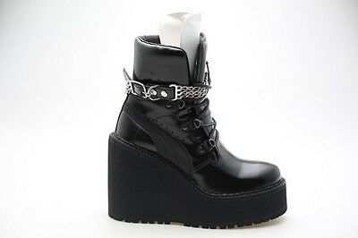 fba4c485f70  350 Fenty Puma by Rihanna Women SB Wedge black 363039-01 sneaker boots
