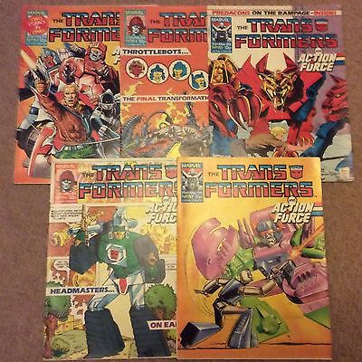 Marvel UK Transformers Comic No. 153 To 157 - Feb 88 To Mar 88