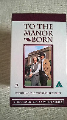 """Box Set of """"To the Manor Born"""" VHS Video Tapes"""