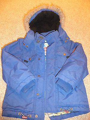 Boys TU Blue Winter Hooded Jacket / Coat - Size 5-6 yrs - GREAT CONDITION