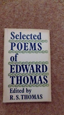 Selected Poems of Edward Thomas, Edited by R.S. Thomas. Book.