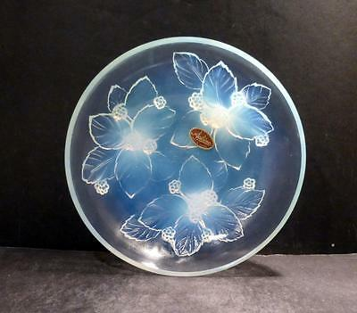 """Sabino Opalescent Crystal Footed Berry Bowl - 8"""" - MINT - No Box"""