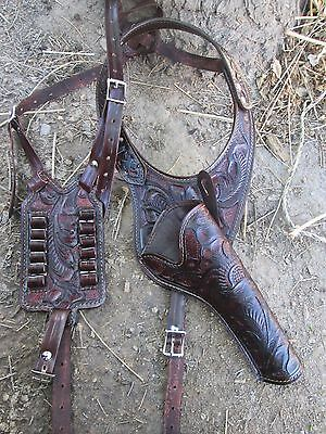 D.A.D CUSTOM LEATHER  Hand Tooled Western Shoulder Holster Variety of Colors