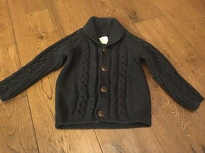 Next Navy Blue Thick Cardigan 6-9 Months