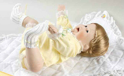 Danbury Mint PLAYING FOOTSIE Collectible Porcelain Baby Doll Playful Babies 1989