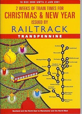 Railtrack Transpennine Express Xmas New Year 2000 Leeds Whitehall