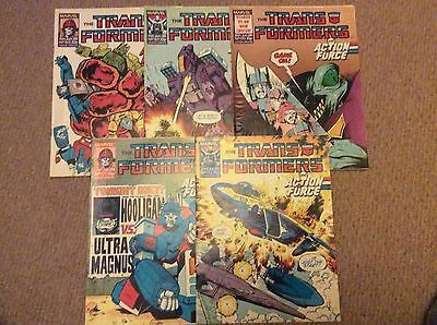 Marvel UK Transformers Comic No. 168 To 172- Jun 88 To Jul 88