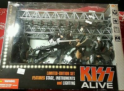 KISS Alive 2002 Super Stage Figures Limited Edition Set McFarlane Toys Used Cond