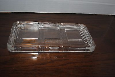 Vintage Clear Pattern Depression Glass Pyrex Refrigerator 4x8  Replacement Lid