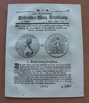 Old German Weekly Coin Newspaper From 07. July 1734 - 8 Pages - Original -
