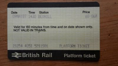 PLATFORM TICKET British Rail from BEXHILL 9 MAY 1987