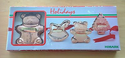 """Vintage New In Box """"himark"""" Copper Cookie Cutters"""