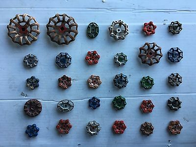 30 Vintage/antique Valve Handles Water Faucet Knobs Steampunk Industrial Art#720