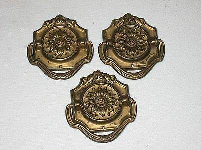 Pull Ring 3 Vintage Flower Ornate Drawer Cabinet Door FREE SHIP
