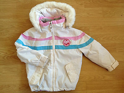 Gorgeous Ex. Cond. Girls White Ski Jacket by Baby West Scout Age 3