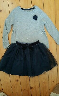 Party polka dot skirt and matching top outfit age 7 yrs