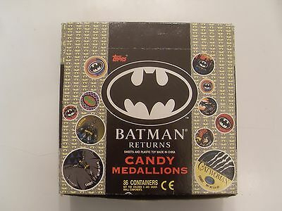 Box Of Rare Batman Returns 36X Candy Medallions By Topps
