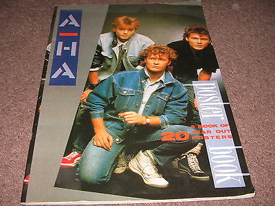 A-HA : A Poster Book (A BOOK OF 20 TEAR OUT POSTERS) UK 1986 ATALANTA