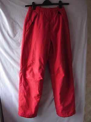 Salopettes Aged 14 164Cm Height L.o.g.g.padded  Red With Elasticated Braces
