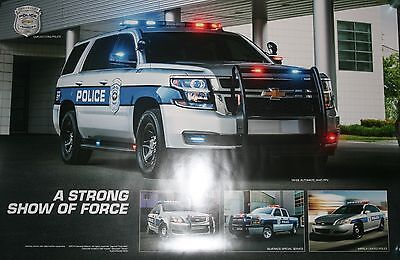 """Chevrolet Police Cars Tahoe Impala  """"A Strong Showing Of Force"""" Police Poster"""