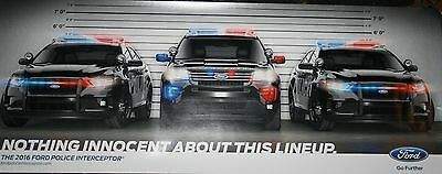 """Ford Police Interceptor """"Nothing Innecent About This Lineup"""" Police Poster"""