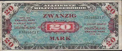 Germany  20  Mark   Series 1944  P 195a  Circulated Banknote