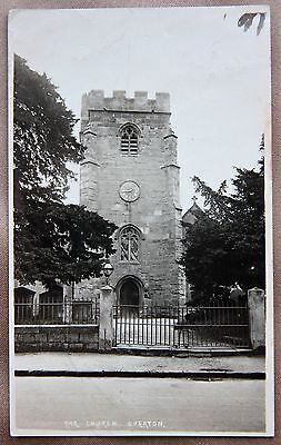 1926 The Church Overton on Dee Vintage Photographic Postcard PC Wrexham Wales
