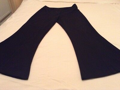ladies wide leg black trousers