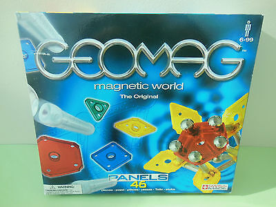 Geomag Magnetic World Panels 46 Pieces Swiss Made 100% Complete Boxed Set 401
