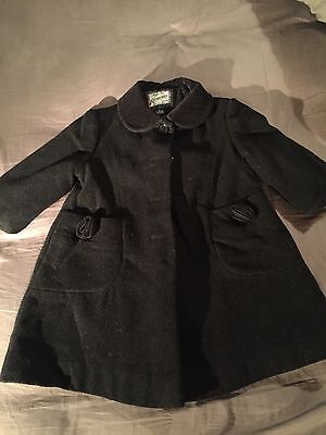 Girls Black Wool coat Rothschild Age 2