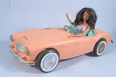Vintage BARBIE 1962 AUSTIN HEALY Sports Car Irwin Convertible with Barbie EUC