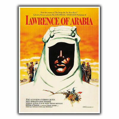 LAWRENCE OF ARABIA '62 METAL SIGN WALL PLAQUE Film Movie Advert poster art print