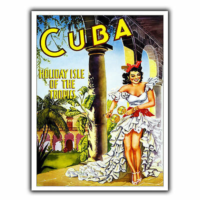 CUBA HOLIDAY ISLE METAL SIGN WALL PLAQUE Vintage Holiday Travel Advert print