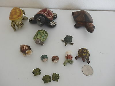 Assorted Lot 13 Turtles and Frogs Collection
