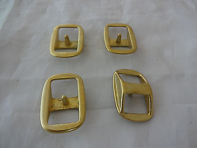 """Lot of 4 Solid Brass Conway Buckles 3/4"""" Heavy Duty Horse Bridle Tack Reins New"""