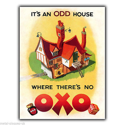 OXO 1950 Vintage Old Retro Advert METAL WALL SIGN PLAQUE Kitchen poster print