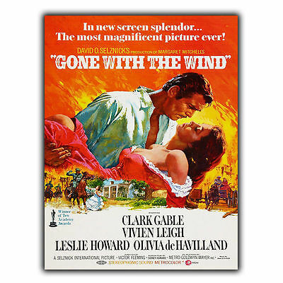 GONE WITH THE WIND METAL SIGN WALL PLAQUE Film Movie Cinema Advert poster print