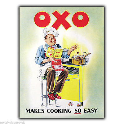 METAL SIGN WALL PLAQUE OXO Makes Cooking So Easy Retro Vintage poster picture