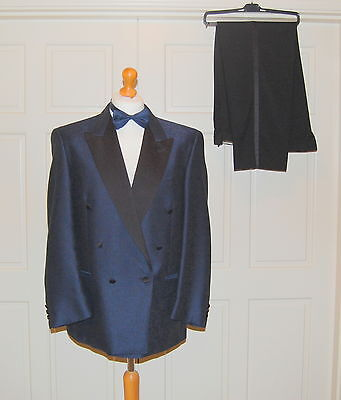 Men's Vintage Jaeger Double Breasted Dinner Jacket & Trousers Size 52R-UK42