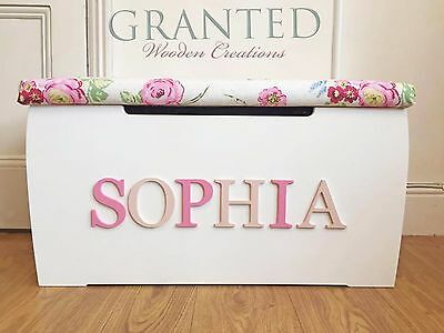 Large Assembled Personalised Children's Wooden Toy/storage Box