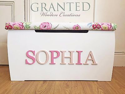 Large Personalised Children's Wooden Toy/storage Box