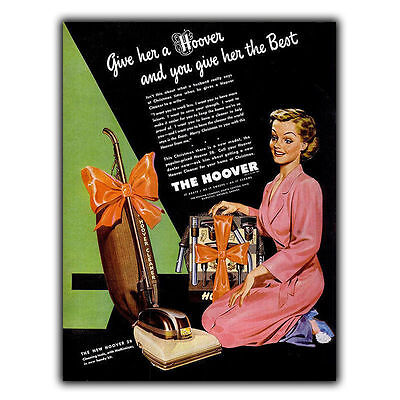 THE HOOVER COMPANY- HUMOROUS METAL SIGN WALL PLAQUE Vintage Retro Advert print